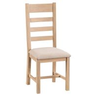 See more information about the Oak Dining Chair Natural Lime-Washed Oak with Dovetailed Joints