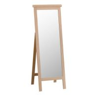 See more information about the Monica Cheval Mirror Oak