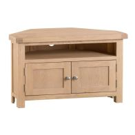 See more information about the Monica Corner TV Unit Oak 2 Door 1 Shelf