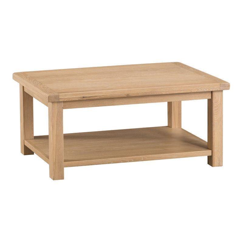 Oak Coffee Table Natural Lime-Washed Oak with Dovetailed Joints