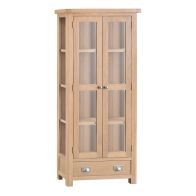See more information about the Monica Display Cabinet Oak 2 Door 4 Shelf