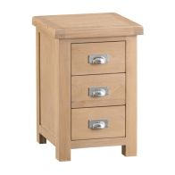 See more information about the Monica Bedside Oak 3 Drawers Large