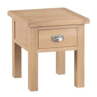 See more information about the Monica Oak 1 Drawer Lamp Table