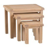 See more information about the Monica Trio Nest of Tables Oak