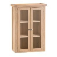 See more information about the Oak Open Shelving Unit 2 Doors Natural Lime-Washed Oak with Dovetailed Joints