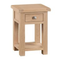 See more information about the Monica Oak 1 Drawer Side Table
