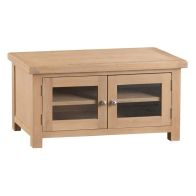 See more information about the Monica TV Unit Oak 2 Door 2 Shelf