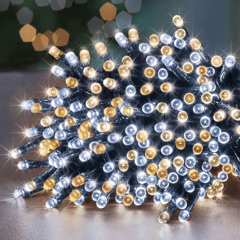 360 LED Warm White Outdoor SupaBrights Christmas Lights Mains 8M