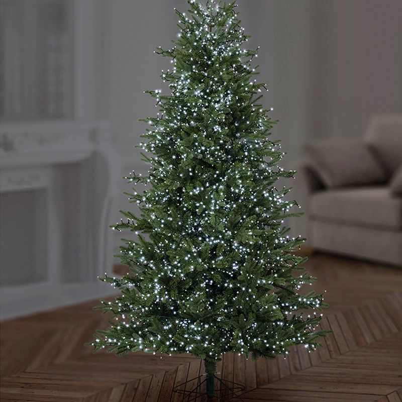 750 LED White Outdoor TreeBrights Christmas Lights Mains 5M