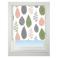 See more information about the Universal 60cm Green & Grey Leaf Blackout Roller Blind