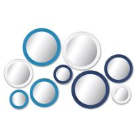 See more information about the Retro Blue 9 Piece Circles Mirrors