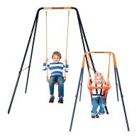 See more information about the Hedstrom Deluxe 2-in-1 Swing Blue & Orange