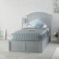 See more information about the Madrid Rubberwood Single Bed 3ft Grey Bed Frame