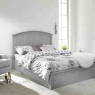 See more information about the Madrid Rubberwood Double Bed 4ft 6in Grey Painted Finish Bed Frame