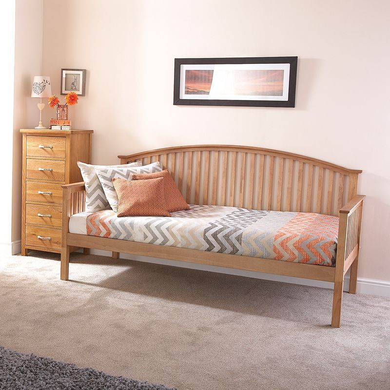 Madrid Wooden Day Bed Only - Oak