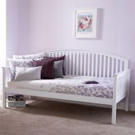 See more information about the Madrid Rubberwood Day Bed 3ft White Painted Bed Frame