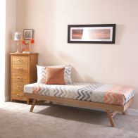 See more information about the Madrid Oak Single 3ft Trundle Bed Frame