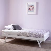 See more information about the Madrid Rubberwood Trundle Bed 3ft White Painted Folding Bed Frame