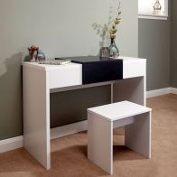 See more information about the Marlow White & Black Top Dressing Table Set