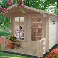 See more information about the Shire Maulden Untreated 19mm Garden Log Cabin & Veranda 9' x 9'