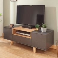 See more information about the Modena TV Unit Grey 2 Door 1 Shelf 1 Drawer