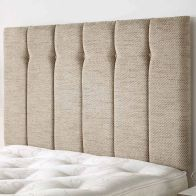 See more information about the Galloway Twill Fabric Brown 6ft Super King Size Bed Headboard