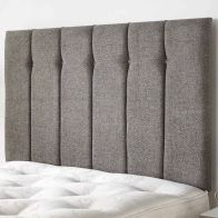 See more information about the Galloway Twill Fabric Grey 6ft Super King Size Bed Headboard