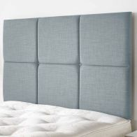 See more information about the Calder Weave Fabric Blue 6ft Super King Size Bed Headboard
