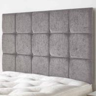 See more information about the Fairburn Velour Fabric Silver 6ft Super King Size Bed Headboard
