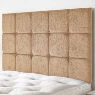 See more information about the Fairburn Velour Fabric Brown 6ft Super King Size Bed Headboard