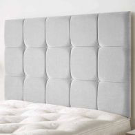 See more information about the Cambrian Linen Fabric Silver 6ft Super King Size Bed Headboard