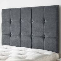 See more information about the Cambrian Linen Fabric Grey 6ft Super King Size Bed Headboard