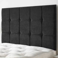 See more information about the Cambrian Linen Fabric Black 6ft Super King Size Bed Headboard