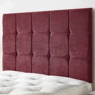See more information about the Cambrian Linen Fabric Red 6ft Super King Size Bed Headboard