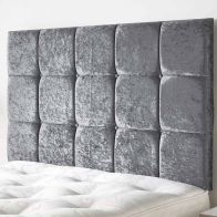 See more information about the Frampton Mirrazi Velvet Silver 6ft Super King Size Bed Headboard