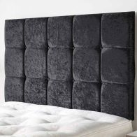 See more information about the Frampton Mirrazi Velvet Black 6ft Super King Size Bed Headboard