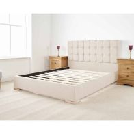 See more information about the Banks Upholstered Pine Cream 4ft Queen Size Bed Frame