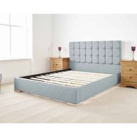 See more information about the Banks Upholstered Pine Blue 4ft Queen Size Bed Frame