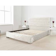See more information about the Lanata Upholstered Pine Pearl 4ft Queen Size Bed Frame