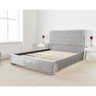 See more information about the Lanata Upholstered Pine Silver 4ft Queen Size Bed Frame