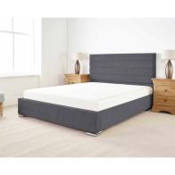See more information about the Stocksmoor Upholstered Pine Grey 4ft Queen Size Bed Frame
