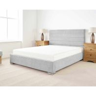 See more information about the Stocksmoor Upholstered Pine Silver 4ft Queen Size Bed Frame