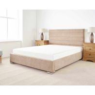 See more information about the Stocksmoor Upholstered Pine Brown 4ft Queen Size Bed Frame