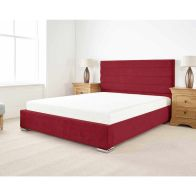 See more information about the Stocksmoor Upholstered Pine Red 4ft Queen Size Bed Frame