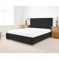 See more information about the Stocksmoor Upholstered Pine Black 4ft Queen Size Bed Frame