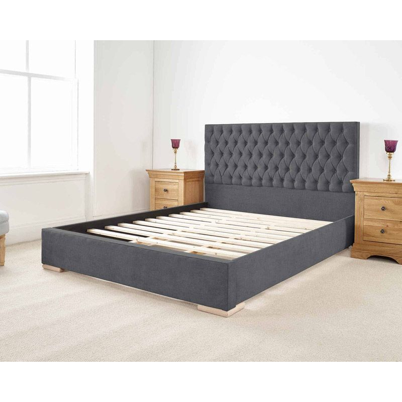 Farnley Upholstered Pine Grey 6ft Super King Size Bed Frame