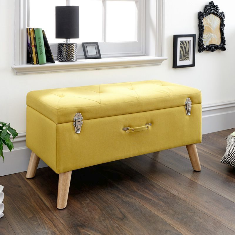 Strange Minstrel Storage Ottoman Yellow Pdpeps Interior Chair Design Pdpepsorg