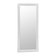 See more information about the Bevelled Glass Mirror with Wooden Frame (75 x 165cm) - White