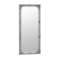 See more information about the Bevelled Glass Mirror with Wooden Frame (80 x 175cm) - Silver
