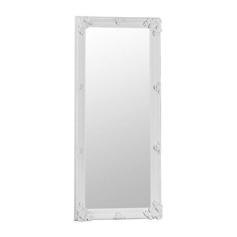 Venetian Bevelled Mirror White & Glass 80 x 175cm